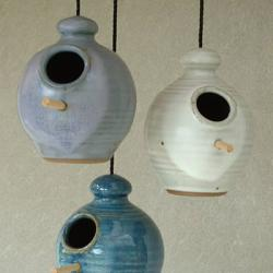Paul Anthony Stoneware Birdfeeders